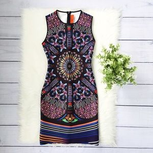 Clover Canyon Black Blue Sleeveless Mini Dress